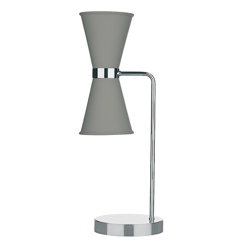 Hyde Polished Chrome with Metal Shade Table Lamp