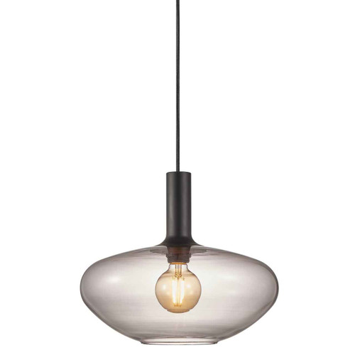 Alton 35 Black with Smoked Glass Pendant Light