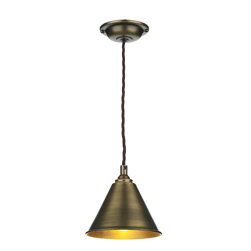 LONDON antique brass Single Pendant Light