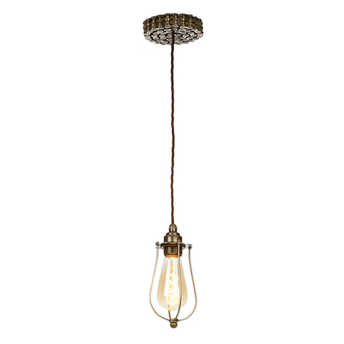 Loxley Bronze with Cage Single Pendant Light