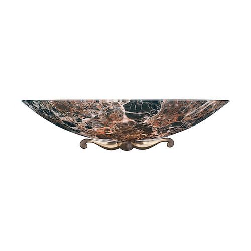 Savoy Bronze with Dark Marble Glass Wall Washer