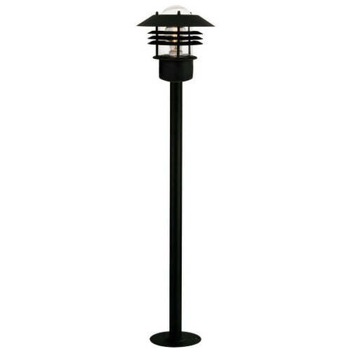 Nordlux Vejers Black With Clear Glass IP54 Bollard