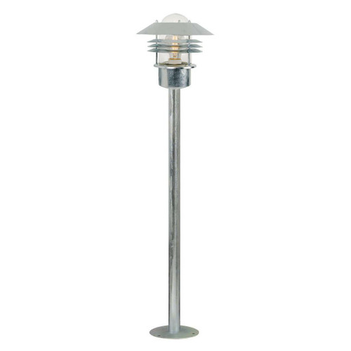 Nordlux Vejers Galvanized With Clear Glass IP54 Bollard