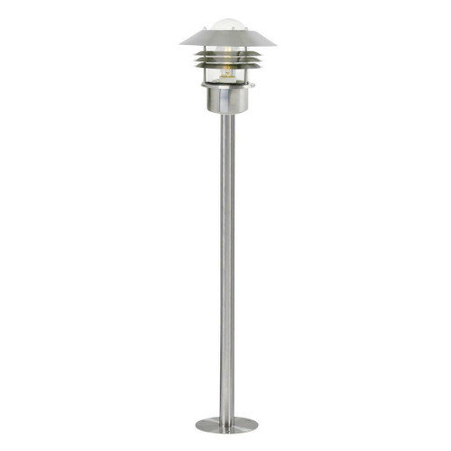 Nordlux Vejers Stainless Steel With Clear Glass IP54 Bollard