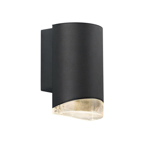 Nordlux Arn Black With Clear Glass IP44 Wall Light