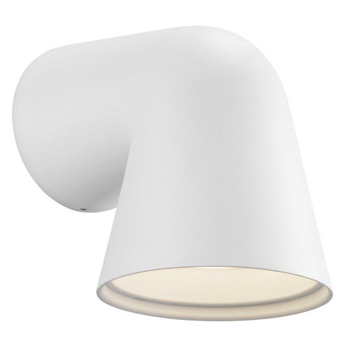 Nordlux Front Single White With Frosted Glass IP44 Wall Light
