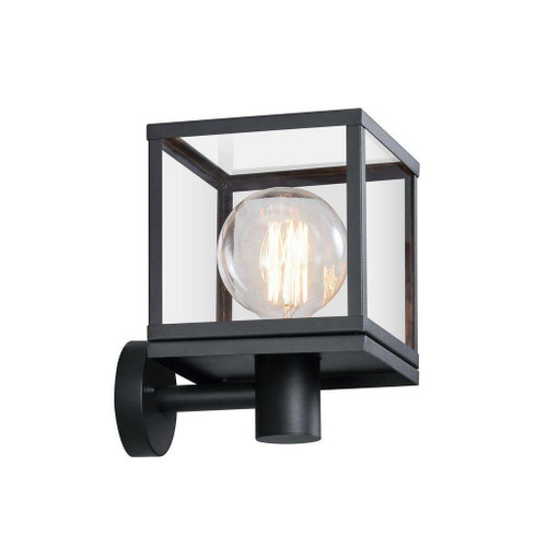 Nordlux Dalton Black With Clear Glass IP44 Wall Light