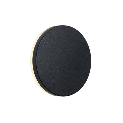 Nordlux Artego Round Black With Opal Glass IP54 Wall Light
