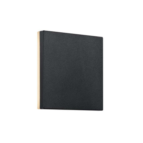 Nordlux Artego Square Black With Opal Glass IP54 Wall Light