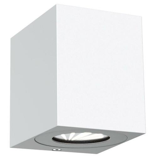 Nordlux Canto Kubi 2 LED White With Clear Glass IP44 Up/Down Wall Light