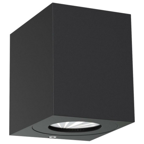 Nordlux Canto Kubi 2 LED Black With Clear Glass IP44 Up/Down Wall Light