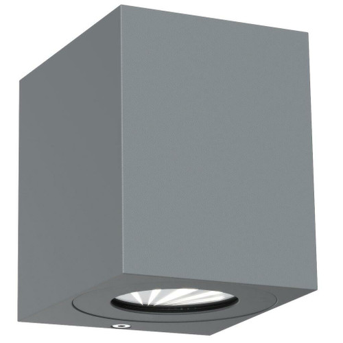 Nordlux Canto Kubi 2 LED Grey With Clear Glass IP44 Up/Down Wall Light