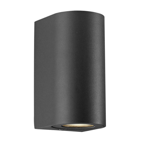 Nordlux Canto Maxi 2 LED Black With Clear Glass IP44 Up/Down Wall Light