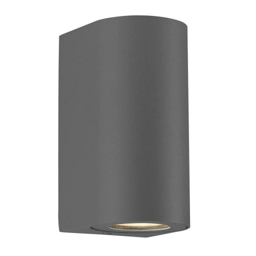 Nordlux Canto Maxi 2 LED Grey With Clear Glass IP44 Up/Down Wall Light