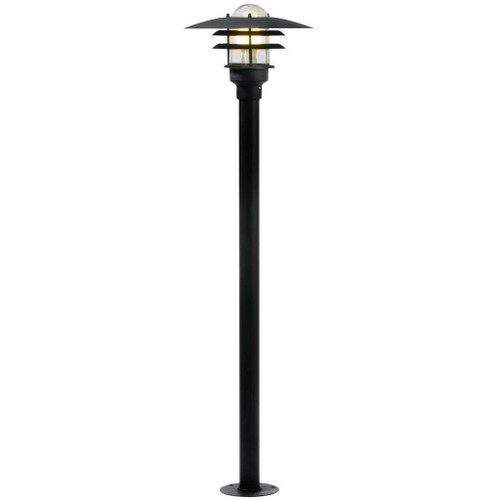 Nordlux Lonstrup 32 Black With Clear Glass IP44 Bollard