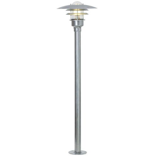 Nordlux Lonstrup 32 Galvanized With Clear Glass IP44 Bollard