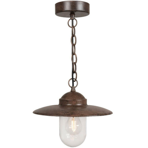 Nordlux Luxemborg Rusty With Clear Glass Single Pendant Light