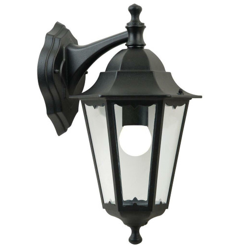 Nordlux Cardiff Down Black With Clear Glass IP44 Wall Light