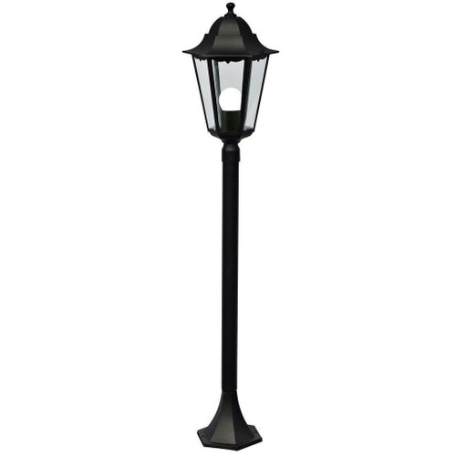 Nordlux Cardiff Black With Clear Glass IP44 Bollard