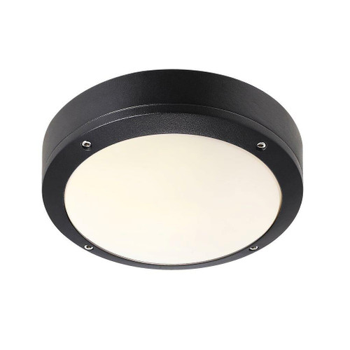 Nordlux Desi 22 Black With Opal Glass IP44 Ceiling Light