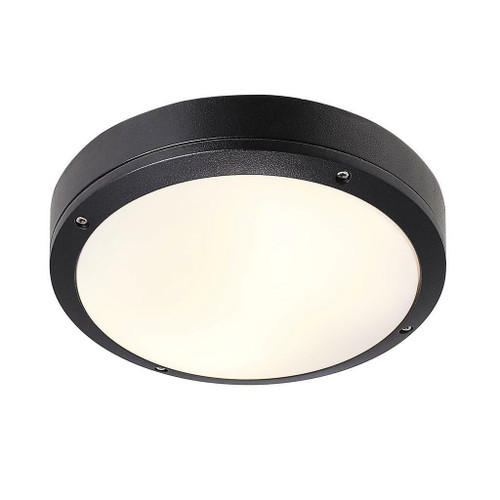 Nordlux Desi 28 Black With Opal Glass IP44 Ceiling Light
