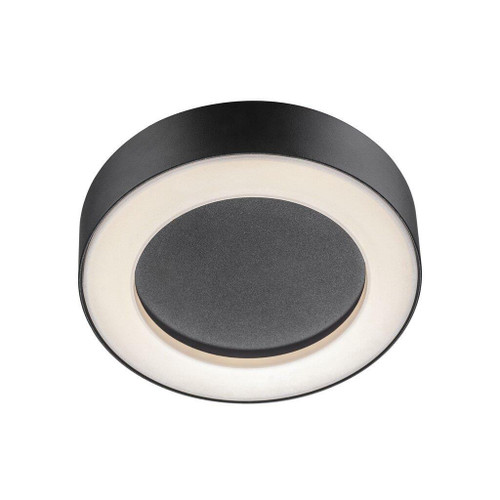 Nordlux Teton Black With Opal Glass IP54 Ceiling Light