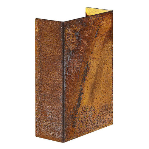 Nordlux Fold 10 LED IP54 Up/Down Corten Wall Light