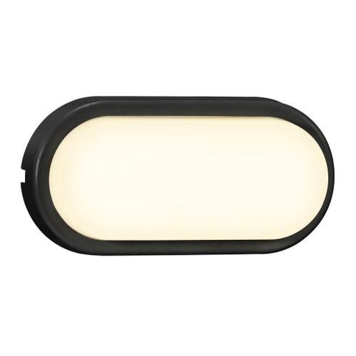 Nordlux Cuba Bright Oval Black IP54 Wall Light