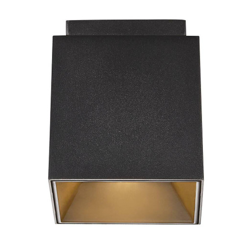 Nordlux Ethan Black with Gold Reflector Surface Downlight