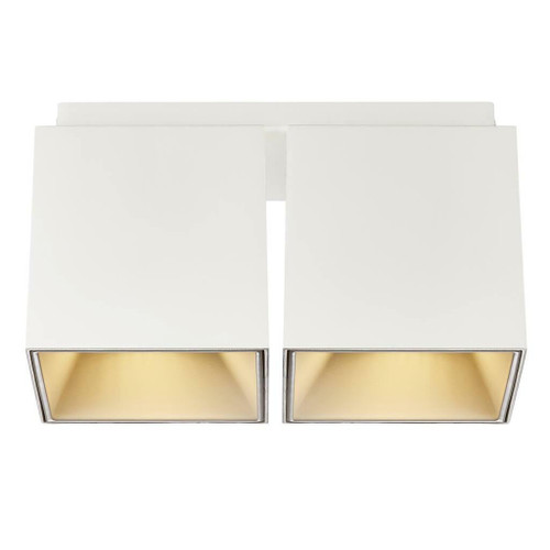 Nordlux Ethan White with Gold Reflector Twin Surface Downlight