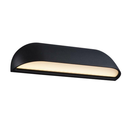 Nordlux Front 26 LED Black with Opal White Glass Wall Light