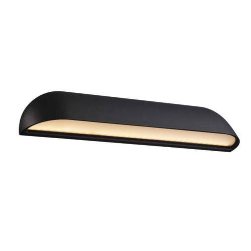 Front 36 LED Black with Opal White Glass Wall Light