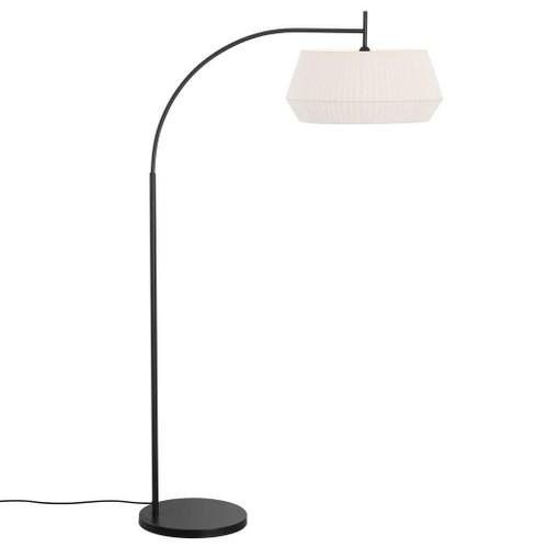 Nordlux Dicte Black With White Shade Floor Lamp