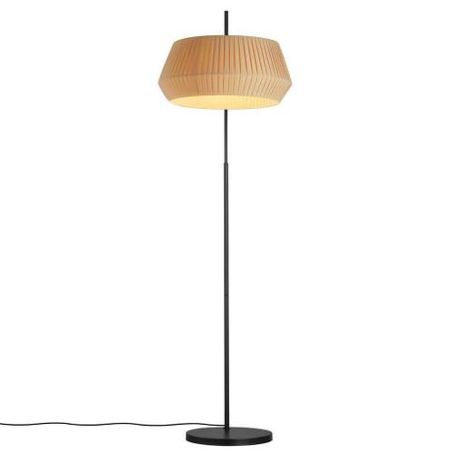 Nordlux Dicte Black With Beige Shade Floor Lamp