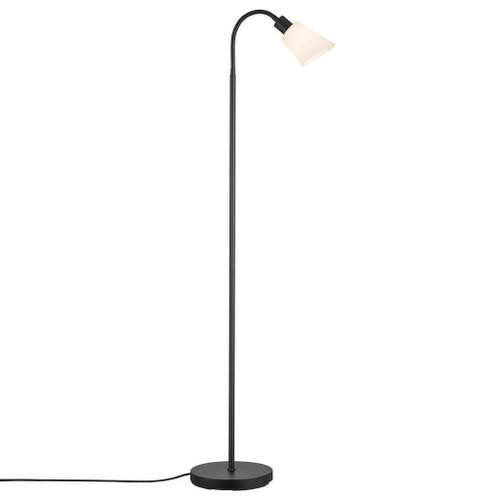 Nordlux Molli Black With Opal Glass Single Floor Lamp
