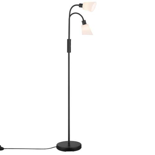 Nordlux Molli Black With Opal Glass Single Headed Floor Lamp