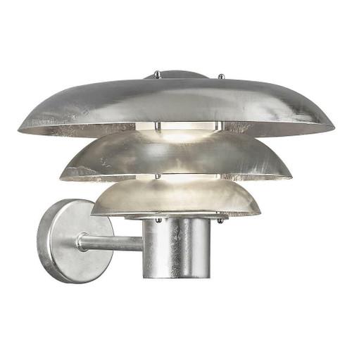 Nordlux Kurnos 35 Galvanized IP54 Wall Light