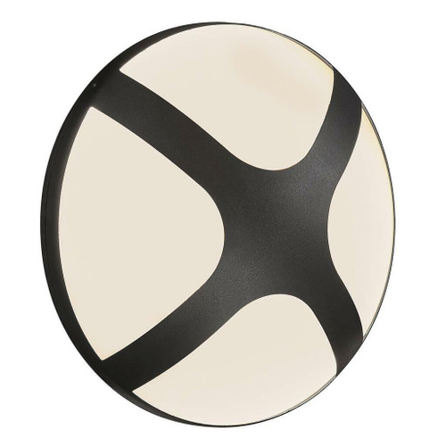 Nordlux Cross 25 Black With Opal Glass IP54 Wall Light