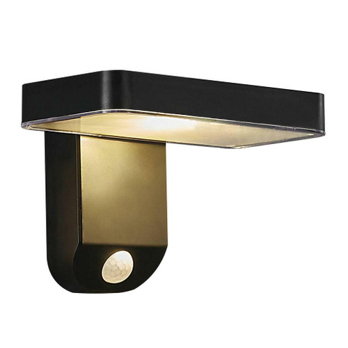 Nordlux Rica Square Black IP44 Solar Wall Light