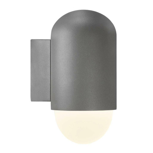 Nordlux Heka Anthracite With Opal Glass IP44 Wall Light