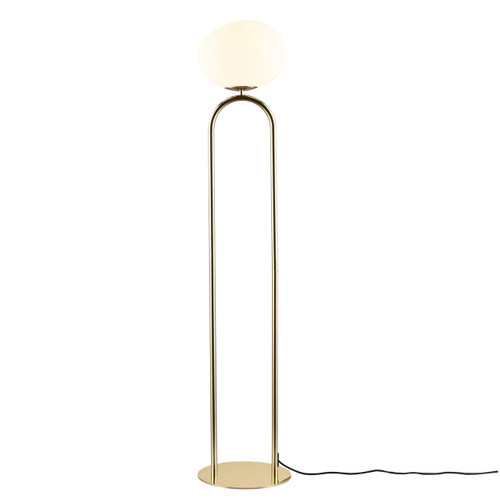 DFTP Shapes Brass With White Opal Glass Floor Lamp