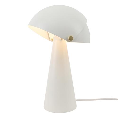 DFTP Align White Finish Metal Table Lamp