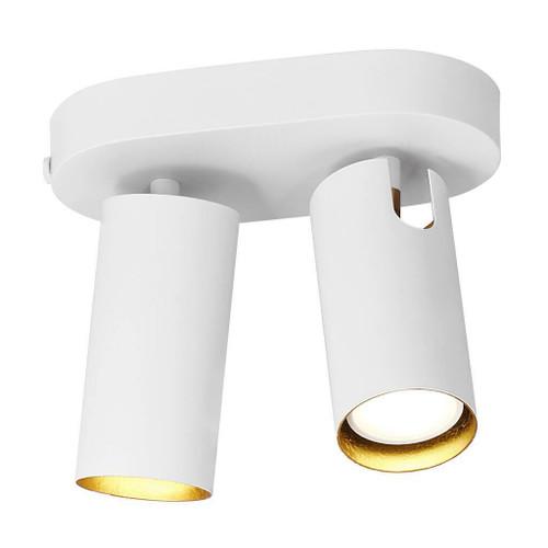 DFTP Mimi 2 Light White Ceiling Bar Spotlight