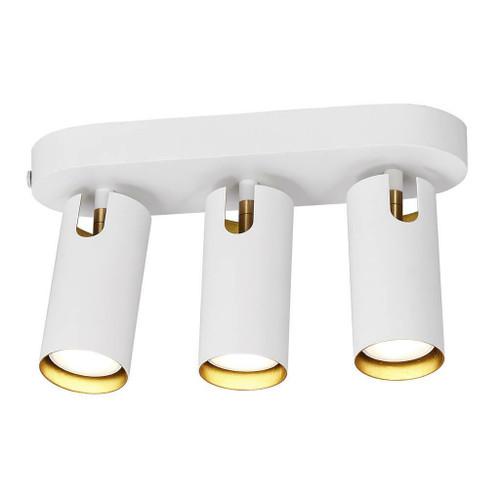 DFTP Mimi 3 Light White Ceiling Bar Spotlight