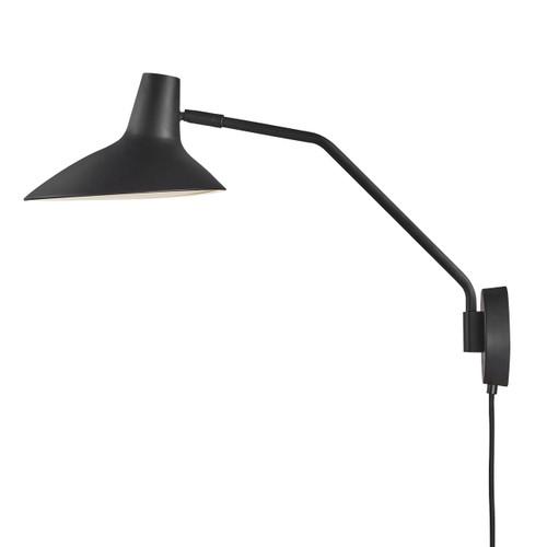 DFTP Darci Black Finish Adjustable Wall Light