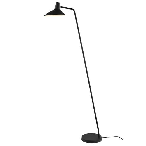 DFTP Darci Black Finish Adjustable Floor Lamp