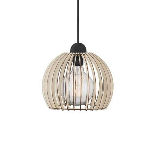 Chino 25 Brown Shade with Black Suspension Pendant Light