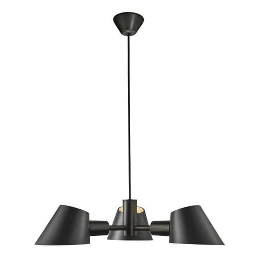 DFTP Stay 3 Light Black Pendant Light