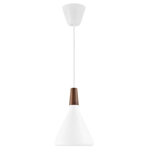 DFTP Nori 18 White Metal With Wood Pendant Light