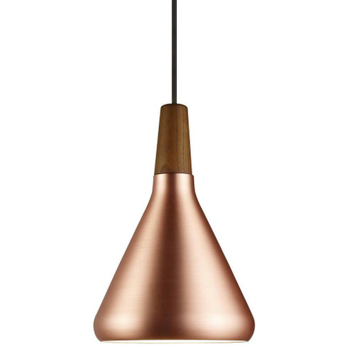 DFTP Nori 18 Copper With Wood Pendant Light
